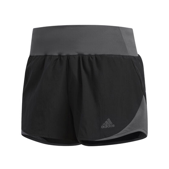adidas Womens Run It 3in Shorts, Black, rebel_hi-res