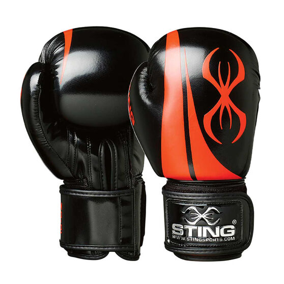 Sting Armalite Boxing Gloves Black 10oz, Black, rebel_hi-res