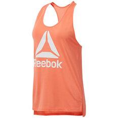 Reebok Womens Workout Ready Supremium 2.0 Tank Orange XS, Orange, rebel_hi-res