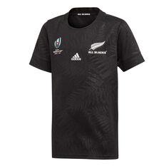 All Blacks Rugby World Cup 2019 Y-3 Kids Home Jersey Black 8, Black, rebel_hi-res