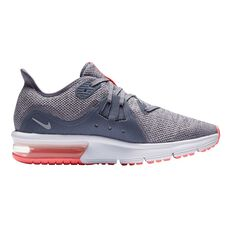 Nike Air Max Sequent 3 Girls Running Shoes Carbon / Grey US 6, Carbon / Grey, rebel_hi-res