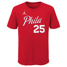 Jordan Philadelphia 76ers Ben Simmons 2020/21 Kids Statement Tee, , rebel_hi-res