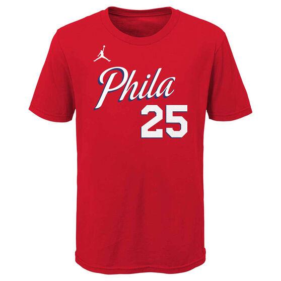 Jordan Philadelphia 76ers Ben Simmons 2020/21 Kids Statement Tee, , rebel_hi-res