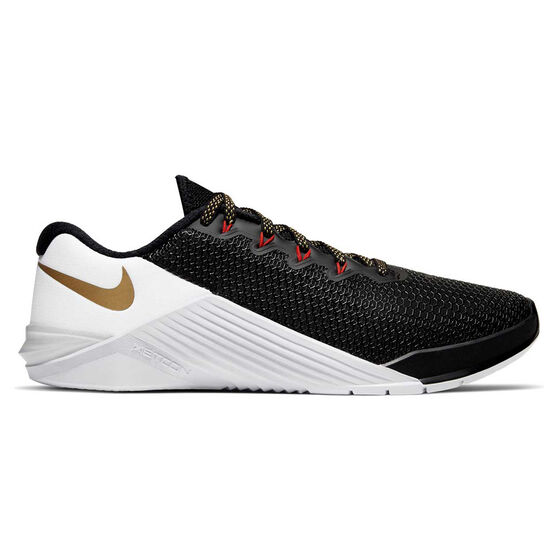 Nike Metcon 5 Womens Training Shoes, Black / Gold, rebel_hi-res