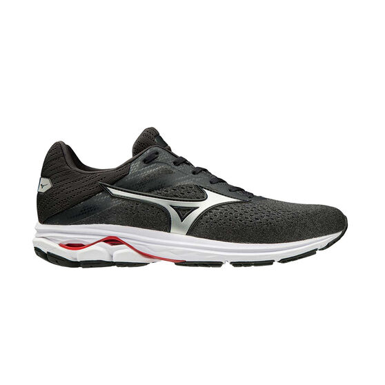 Mizuno Wave Rider 23 Mens Running Shoes, Black / Silver, rebel_hi-res