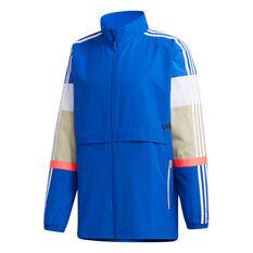 adidas Mens UB Colourblock Jacket Blue S, Blue, rebel_hi-res