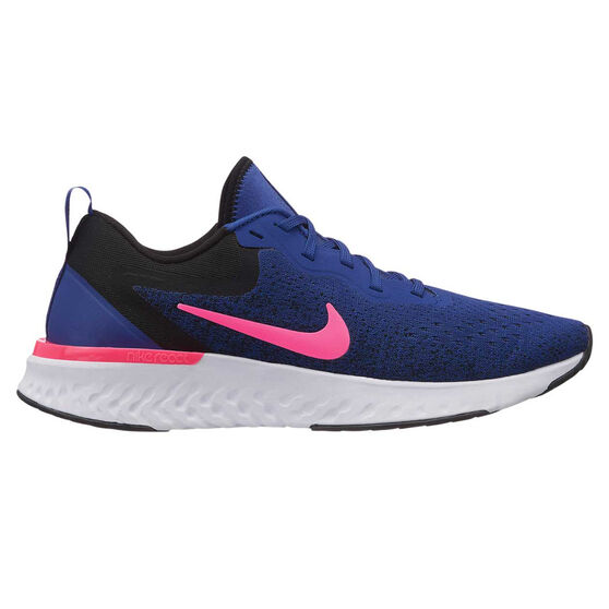 Nike Odyssey React Womens Runnning Shoes, Blue / Pink, rebel_hi-res