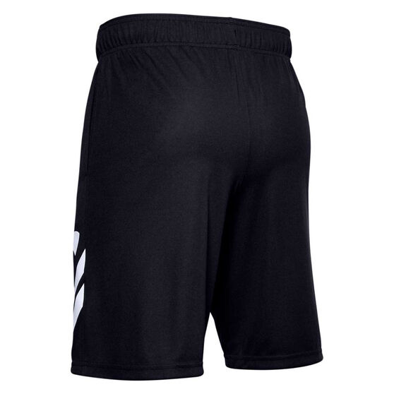 Under Armour Mens Baseline Court 10in Basketball Shorts, Black, rebel_hi-res