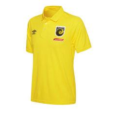 Central Coast Mariners 2018 / 19 Mens Polo Shirt Yellow S, Yellow, rebel_hi-res