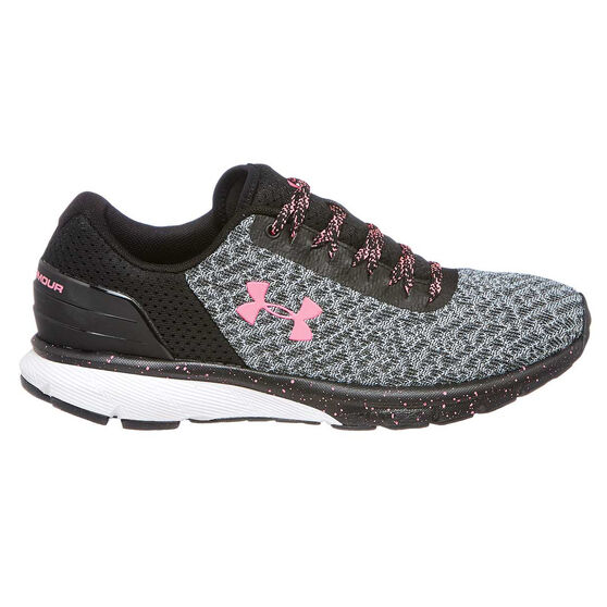 Under Armour Charged Escape 2 Womens Running Shoes, Black / White, rebel_hi-res