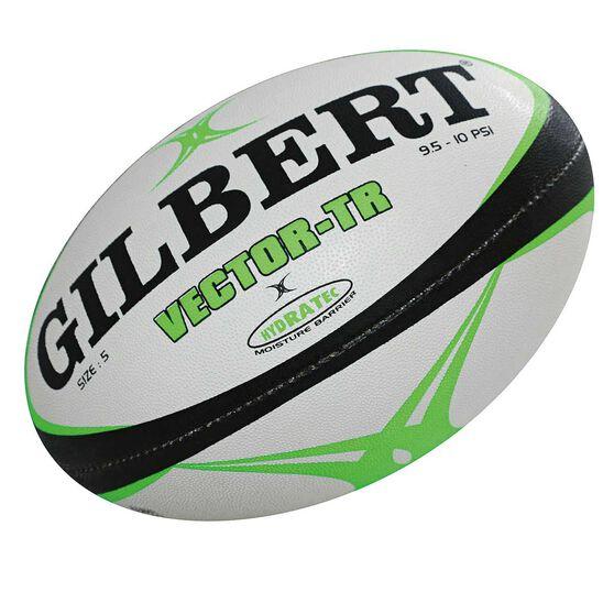 Gilbert Vector Training Rugby Ball White / Black 5, , rebel_hi-res