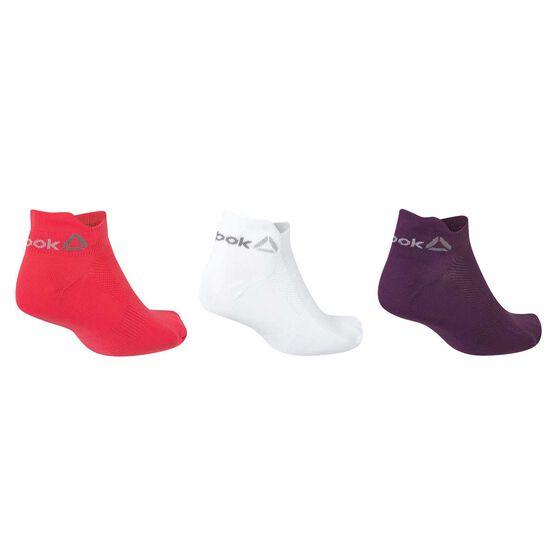 0428bf02 Reebok Womens One Series 3 Pack Socks White / Blue S