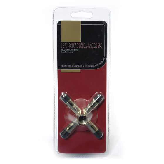 Pot Black Brass Cross, , rebel_hi-res