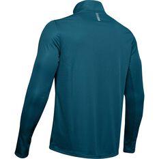 Under Armour Mens Speed Stride Split 1/4 Zip Running Long Sleeve Shirt Teal S, Teal, rebel_hi-res