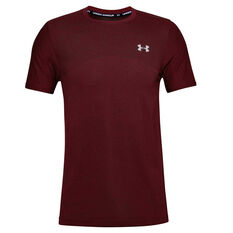 Under Armour Mens Seamless Training Tee Red XS, Red, rebel_hi-res