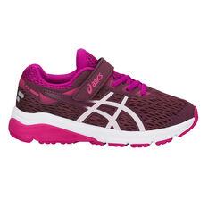 Asics GT 1000 7 Kids Running Shoes Pink / White US 1, Pink / White, rebel_hi-res