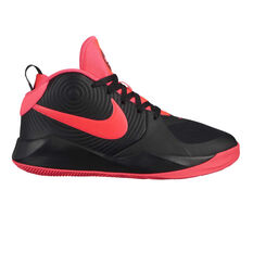 Nike Team Hustle D 9 Kids Basketball Shoes Black / Pink US 4, Black / Pink, rebel_hi-res
