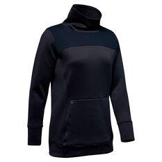 Under Armour Womens ColdGear Hybrid Sweatshirt Black XS, Black, rebel_hi-res