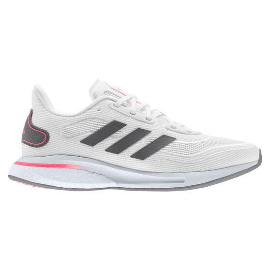 adidas Supernova Womens Running Shoes, White/Grey, rebel_hi-res