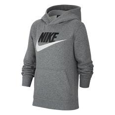 Nike Boys NSW HBR Club Hoodie Grey XS, Grey, rebel_hi-res