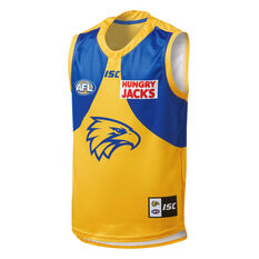 West Coast Eagles 2019 Kids Away Guernsey Yellow / Blue 8, Yellow / Blue, rebel_hi-res