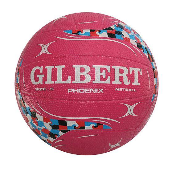 Gilbert Phoenix Pink Netball Pink 5, , rebel_hi-res