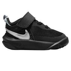 Nike Team Hustle D 10 Toddlers Shoes Black/White US 4, Black/White, rebel_hi-res