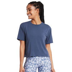 Nimble Womens Breeze On Tee Blue XXS, Blue, rebel_hi-res