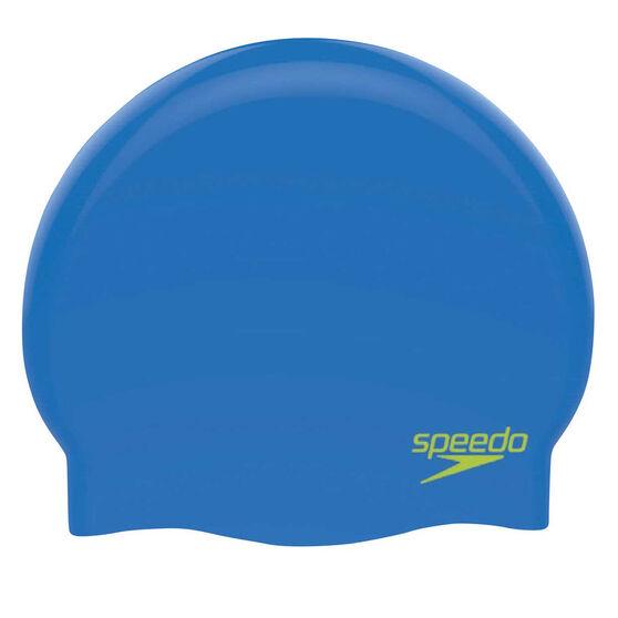 Speedo Plain Moulded Junior Swim Cap, , rebel_hi-res