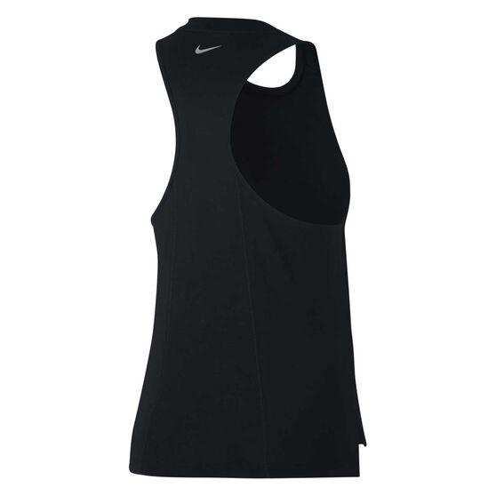 Nike Womens Miler Just Do It Running Tank, Black, rebel_hi-res
