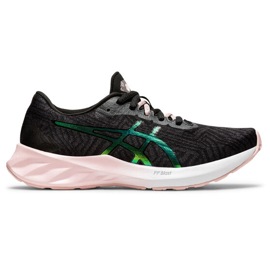Asics Roadblast Womens Running Shoes, Grey/Pink, rebel_hi-res