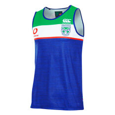 Warriors 2019 Mens Training Singlet Blue S, Blue, rebel_hi-res