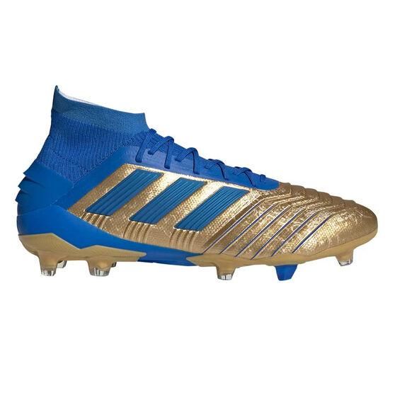 adidas Predator 19.1 Football Boots, Gold / Blue, rebel_hi-res