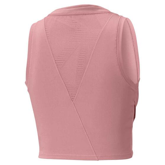 Puma Womens Studio Lace Training Crop Top, Pink, rebel_hi-res