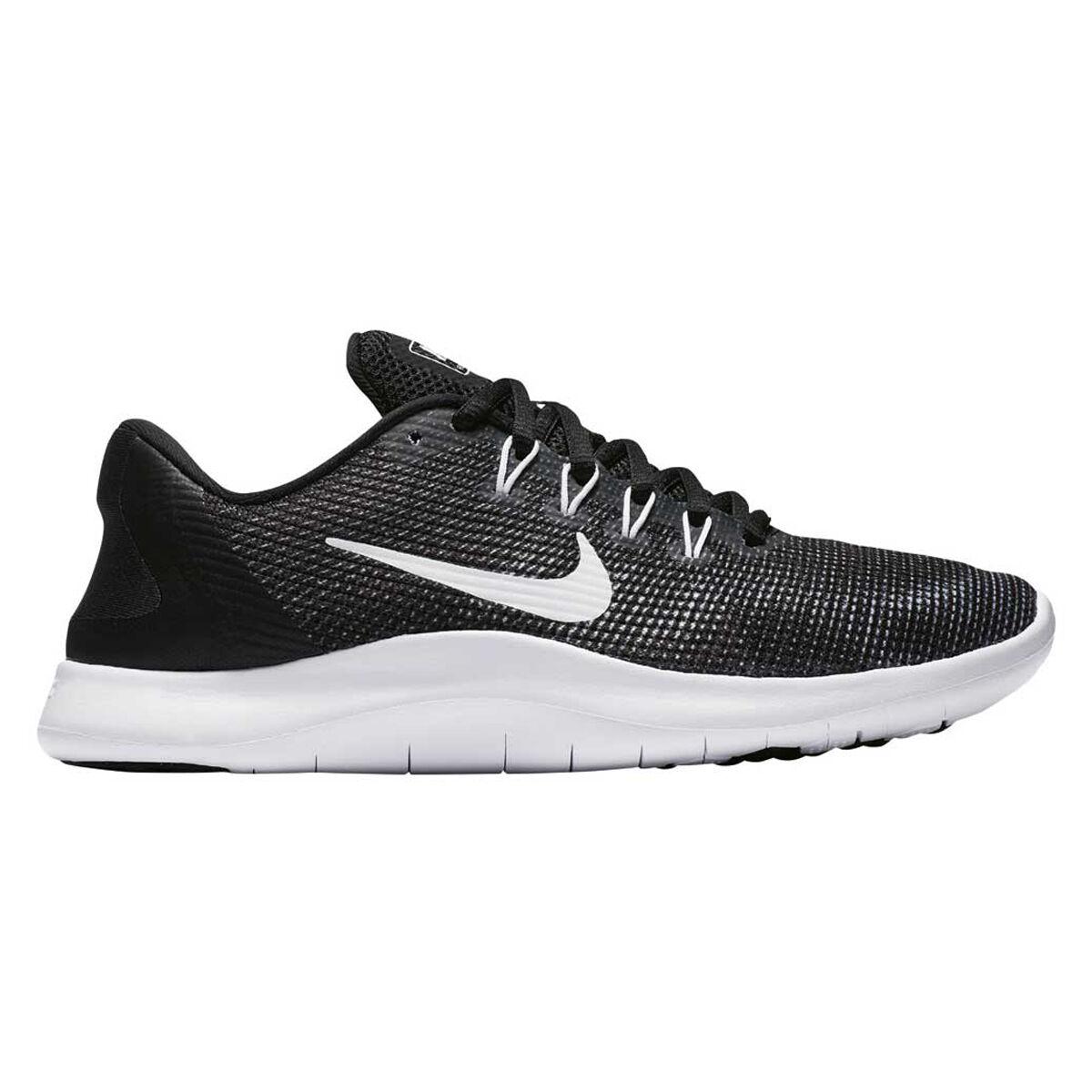 Nike Flex RN 2018 Womens Running Shoes Black White US 7.5