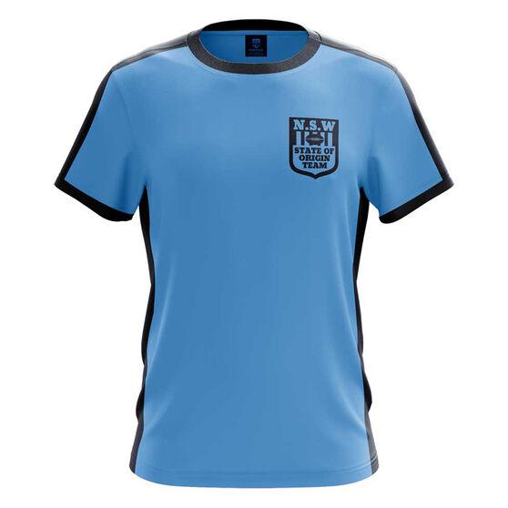 NSW Blues State of Origin 2019 Mens Heritage Tee, Blue, rebel_hi-res