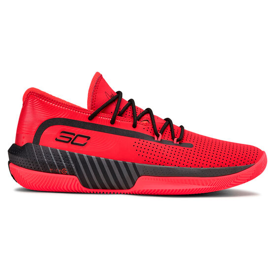 Under Armour Mens SC 3ZERO III Basketball Shoes, Red / Black, rebel_hi-res