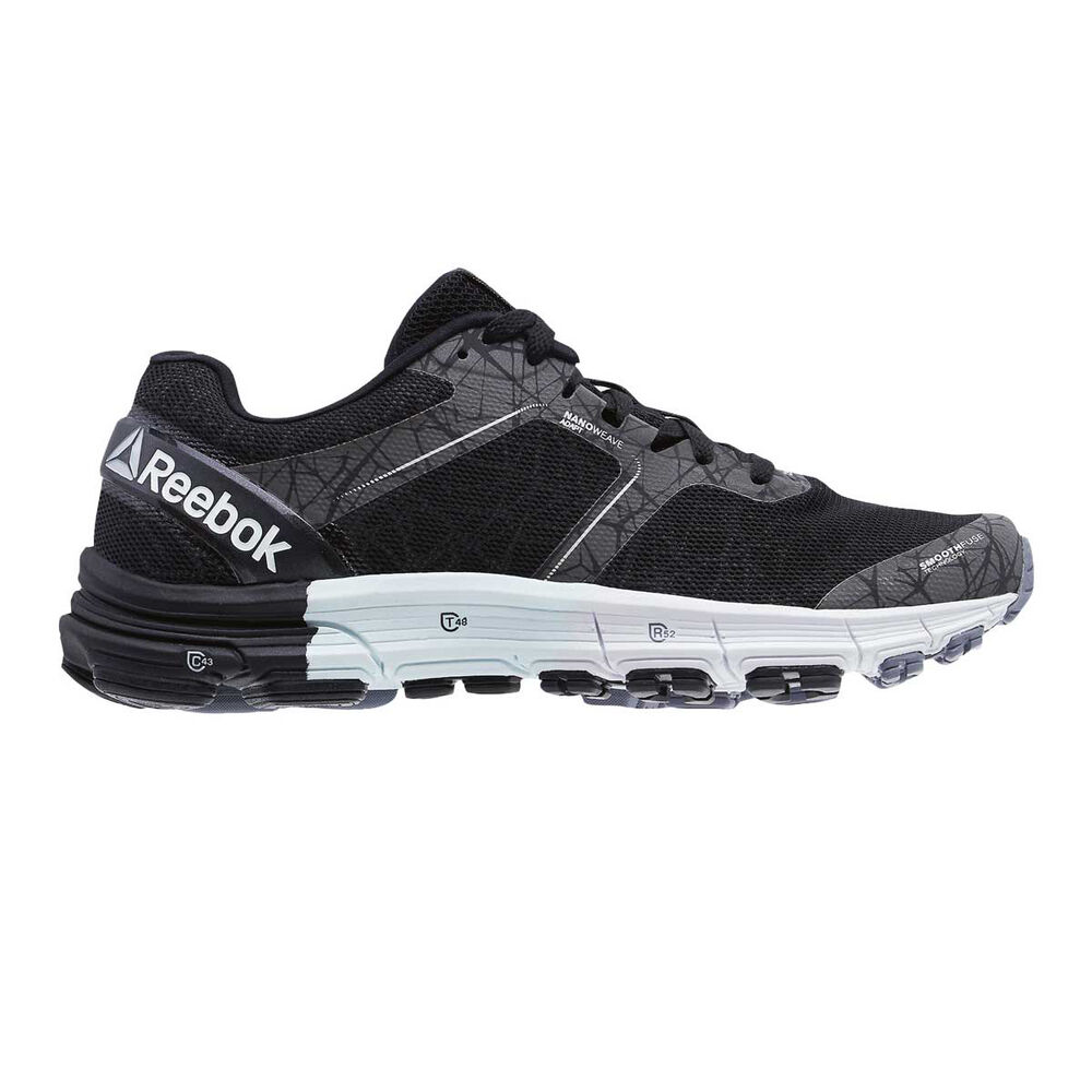 Reebok One Cushion 3.0 Nite Womens Running Shoes Black   White US 8 ... b612da56b