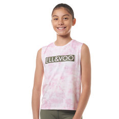 Ell & Voo Girls Abigail Muscle Tank Orchid 8, Orchid, rebel_hi-res