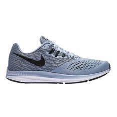 Nike Zoom Winflo 4 Mens Running Shoes Grey / Black US 7, Grey / Black, rebel_hi-res
