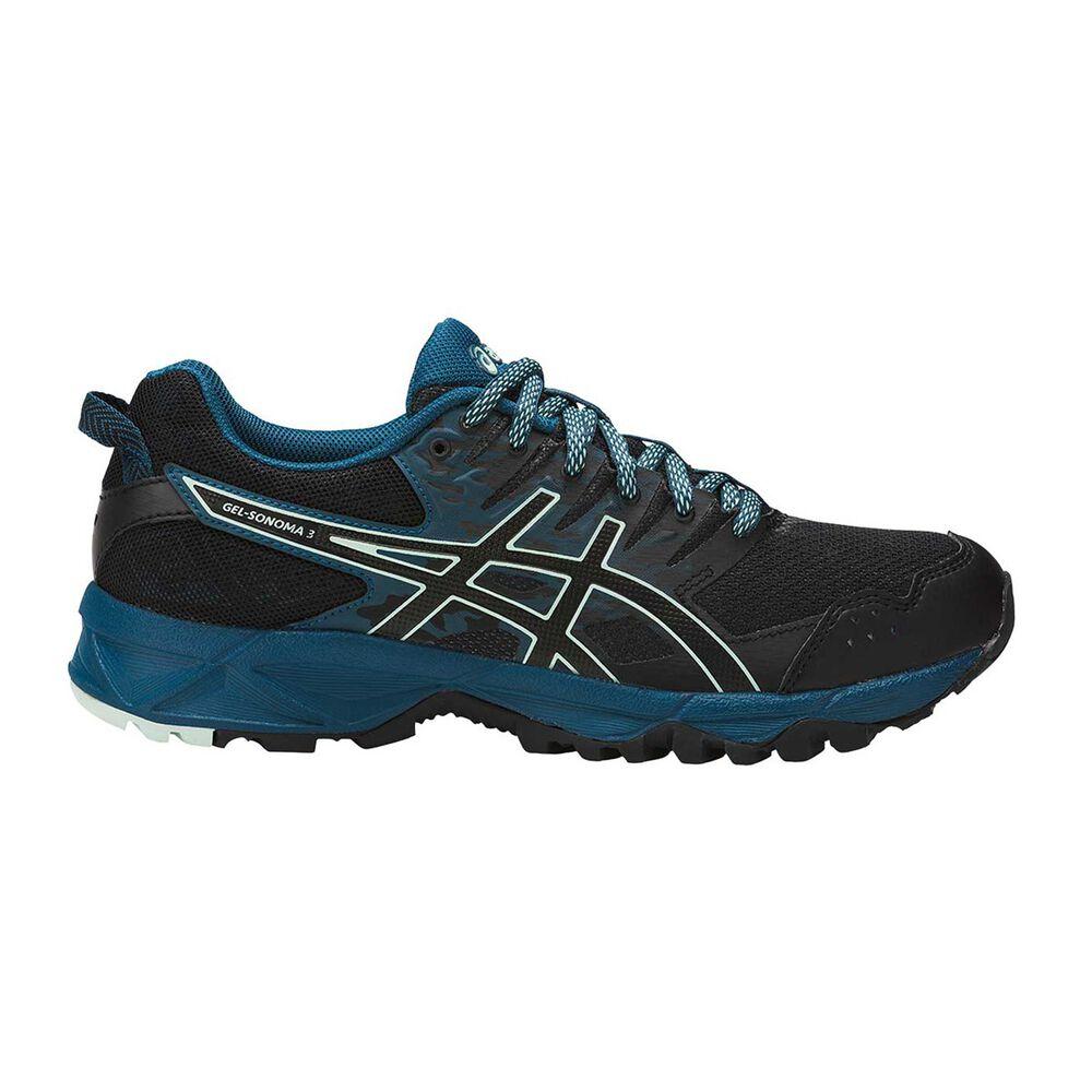 Asics GEL Sonoma 3 Womens Trail Running Shoes Black   Grey US 10.5 ... 212e9ed17c03
