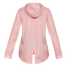 Under Armour Womens Iridescent Woven Hoodie Pink XS, Pink, rebel_hi-res