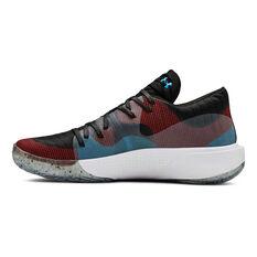 Under Armour Spawn Low Mens Basketball Shoes Black / White US 7, Black / White, rebel_hi-res