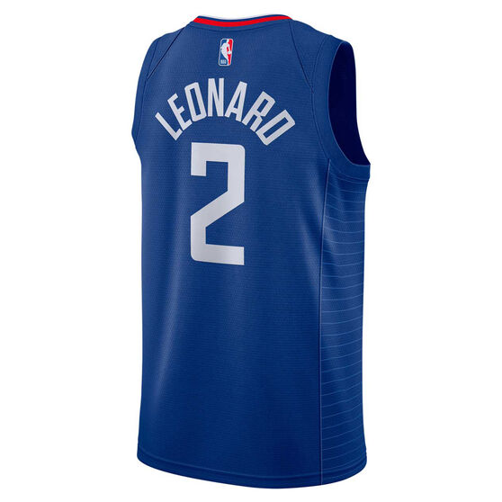 Nike Los Angeles Clippers Kawhi Leonard 2020/21 Mens Icon Edition Authentic Jersey, Blue, rebel_hi-res