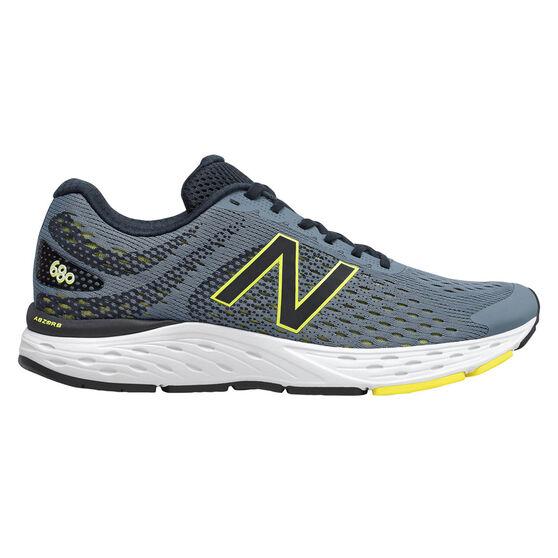 New Balance 680 2E Mens Running Shoes, Grey, rebel_hi-res
