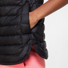 Nike Womens Lightweight Down Windrunner Vest, Black, rebel_hi-res