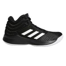 Adidas Pro Spark Kids Basketball Shoes Black / White US 11, Black / White, rebel_hi-res