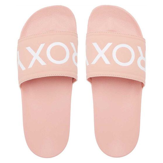 Roxy Slippy II Womens Slides, Pink/White, rebel_hi-res