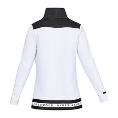 Under Armour Womens Unstoppable Move Mock White XS, White, rebel_hi-res