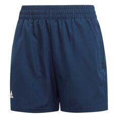 adidas Boys Club Shorts Navy / White 6, Navy / White, rebel_hi-res